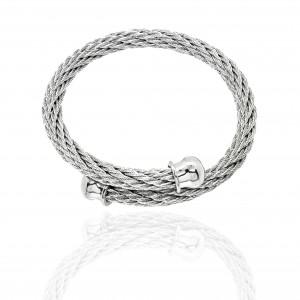 Bracelet-Steel Handcuffs in Silver AJ(BK0209)