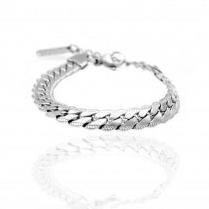 Steel Chain Bracelet in Silver Color AJ (BK0216A)