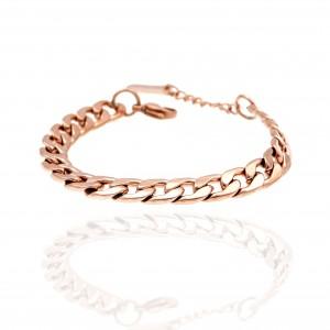 Steel Chain Bracelet in pink Gold AJ(BK0217RX)