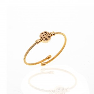 Bracelet-Rod Tree of Life from Steel to Gold AJ (BK0222X)