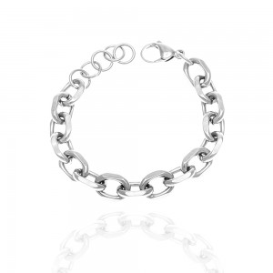 Women's Chain Bracelet from Steel to Silver AJ(BK0242A)