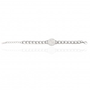 Bracelet-Chain with Steel Stones in Silver AJ (BK0243A)