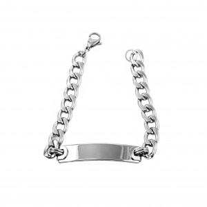 Identity-Unisex Bracelet from Steel to Silver AJ (BK0245A)