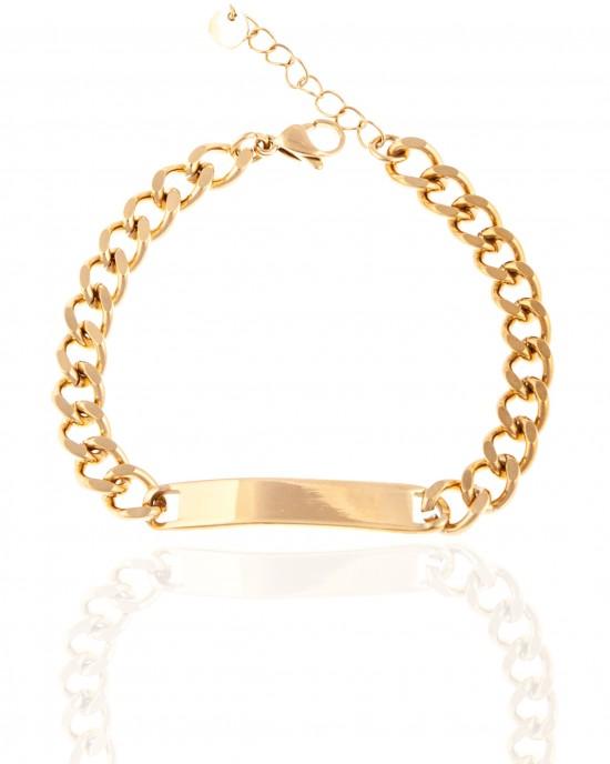 Bracelet - Women's ID from Steel in Yellow Gold AJ (BK0247X)
