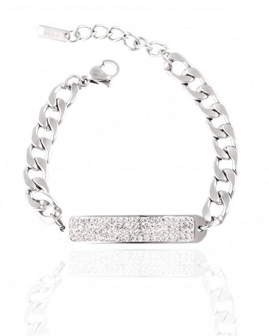 Bracelet - Women's Identity Made of Steel in Silver AJ (BK0248A)