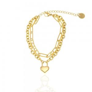 Bracelet-Double Women's Steel in Yellow Gold AJ (BK0249X)