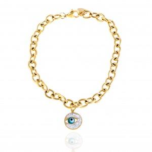 Bracelet-Chain Eye from Steel to Gold AJ (BK0252X)