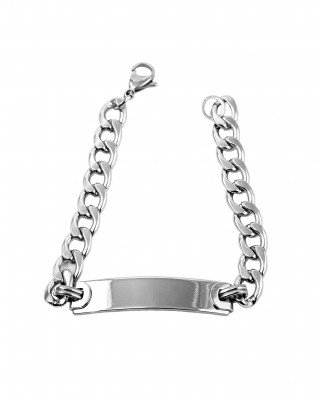 Steel handcuffs identity in silver color BKA0038A