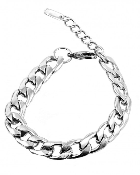 Handmade unisex stainless steel in silver color  AJ(BKA0092A)