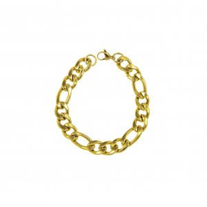 Men's Steel Bracelet in Yellow Gold AJ (BKA0093X