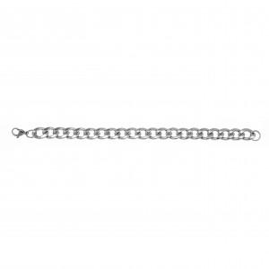 Men's Surgical Steel Bracelet in Silver AJ (BKA0094A)