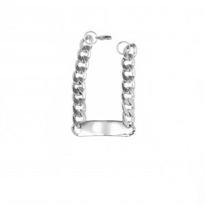 Identity-Men's Steel Bracelet in Silver AJ (BKA0095A)