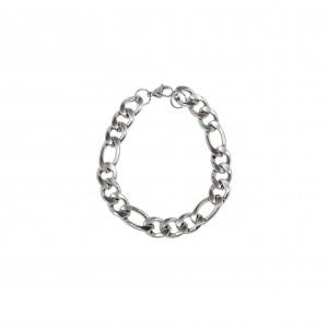 Men's Surgical Steel Bracelet in Silver AJ (BKA0096A)