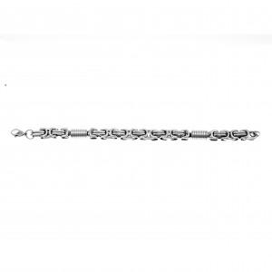 Men's Steel Bracelet in Silver AJ (BKA0152A)