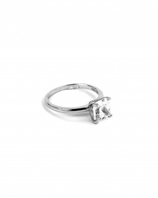 Sterling Silver 925 Pendant Ring with Platinum Plating