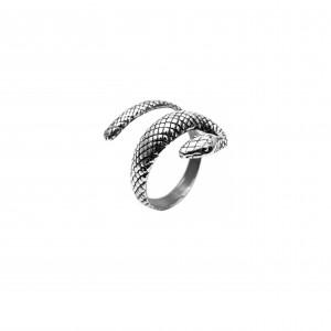 Ring 925 pure silver snake AJ(DA0006)