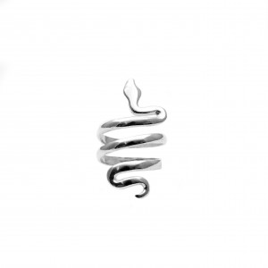 Ring 925 pure silver snake