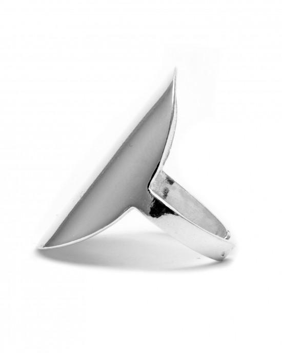 Sterling Silver 925 Ladies' Ring  in Silver Color AJ (DA0009A)