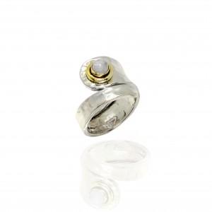 Sterling Silver 925 Ring-Women with Stone in Silver AJ (DA0010A)