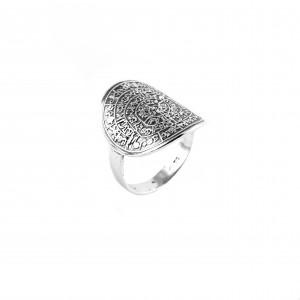 Silver 925 Ring Women's Phaistos Disc in Silver AJ Color (AD0016A)