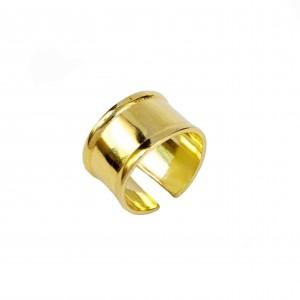 Silver 925 Sevalie Handmade Ring in Yellow Gold AJ(DA0027X)