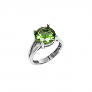Silver 925-Platinum Ring Women with Alexandrite Stone in Silver Color AJ (DA0051) NO58