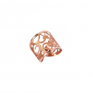 Silver 925 Hand Ring Women's  in Pink Pink Gold AJ (DA0056RX)