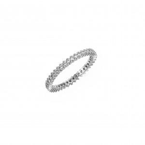 Silver 925-Platinum Ring- Women's Hand Stone Zircon White White in Silver Color AJ (DA0057A) NO56 or NO58