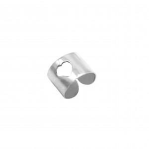Silver 925 Women's Ring-Cavalier-Heart in Silver Color AJ (DA0080A)
