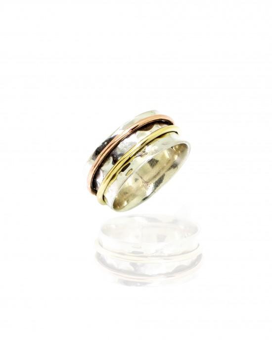 Sterling Silver 925 Ring with Color Silver AJ (DA0097)