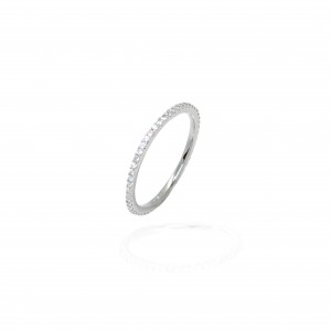 Sterling Silver 925 Wedding Ring with Stones AJ (DA0098)