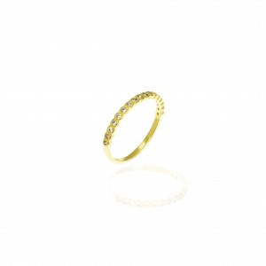 Sterling Silver 925 Ring - Wreath for Women in Gold AJ (DA0101X)
