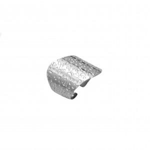 Women's Steel Steel Ring in Silver AJ (DK0009A)