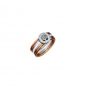 Steel Ring-Tree of Life AJ (DK0011ARX)