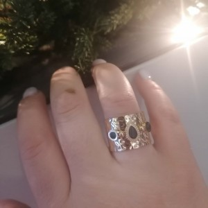 Ring-Chevalier with Steel Stones in Rose Gold AJ (DK0025RX)