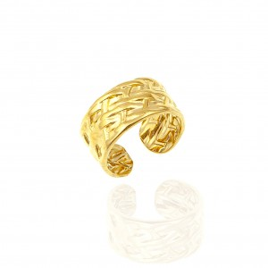 Ring-Women Forged from Steel to Gold AJ (DK0031X)