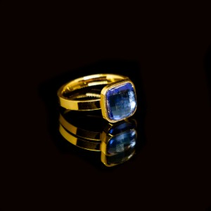 Women's Ring-Single Stone from Steel in Pink Gold AJ (DKM0007RX)