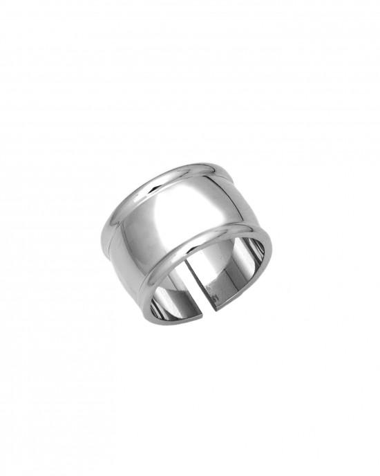 Δαχτυλίδι Γυναικείο Σεβαλιέ από Ατσάλι σε Ασημί AJ(DKS0016A)