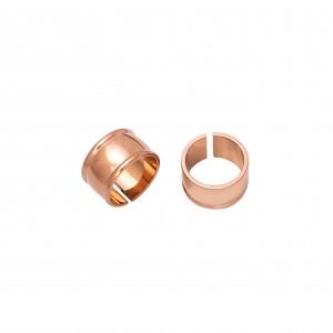 Women's Steel Cavalier Ring in Pink Gold AJ (DKS0019RX)