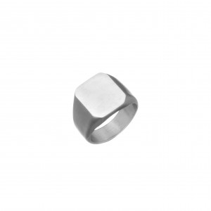 Men's Stainless Steel Ring in Silver AJ (DKS0022A)