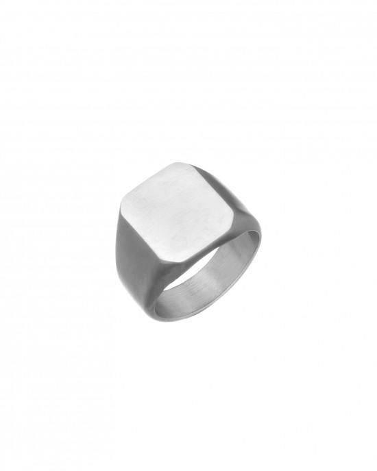 Men's Stainless Steel Ring in Silver AJ (DKS0022A)