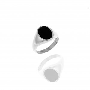 Men's Stainless Steel Ring with Stone in Silver AJ (DKS0096)
