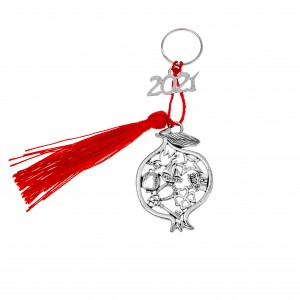 Charm 2021 Pomegranate in Silver from Steel AJ (GA0016A)
