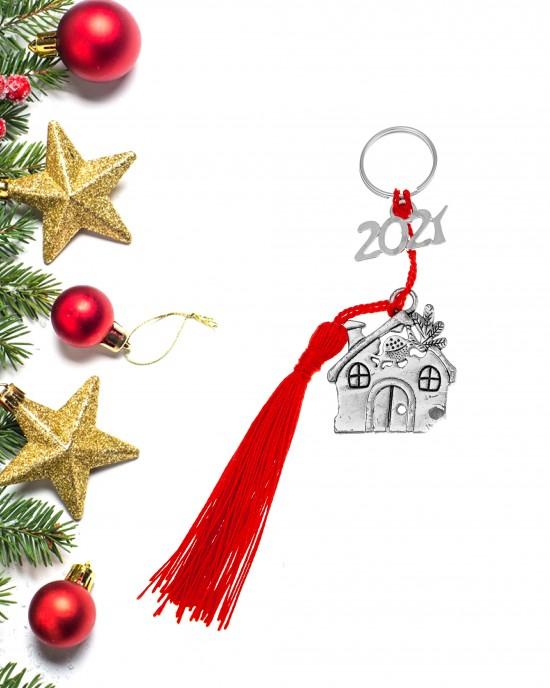 Charm Berlock 2021 Steel House in Silver AJ (GA0027)