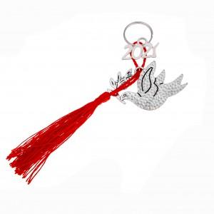 Charm Keychain 2021 Bird of Peace from Steel to Silver AJ (GA0029)