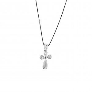 Silver 925 Cross Necklace Women's Filigran in Silver Color AJ (KA0008A)
