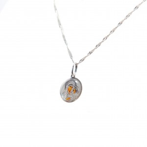 Necklace Virgin Mary 925 silver with enamel