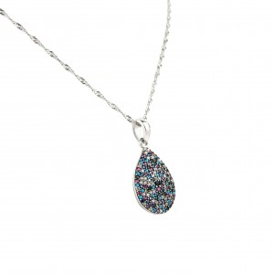 Women's sterling silver 925 pure tear necklace