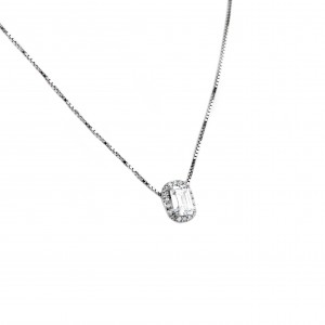 Sterling silver 925 necklace with zircon stones