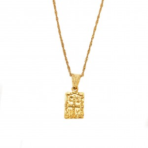 Silver 925 Amulet Women's Gold-plated Necklace in Color Yellow Gold AJ (KA0060X)